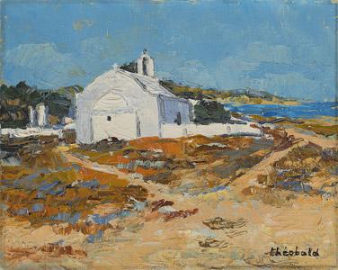 Chapelle grecque en bord de mer