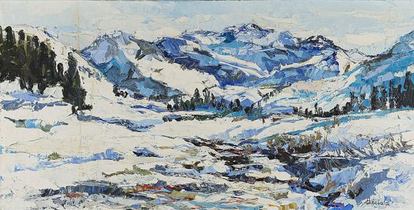 Neige sur la haute vallée