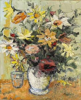 Bouquet au vase blanc