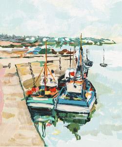 Bateaux bretons à quai