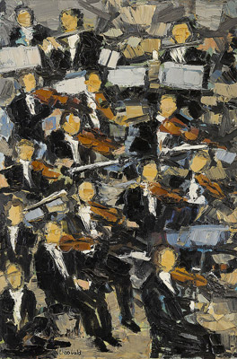 Les violons de l'orchestre