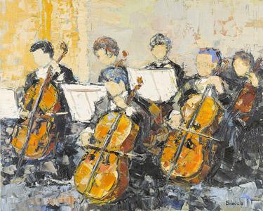 Les violoncellistes de l'orchestre