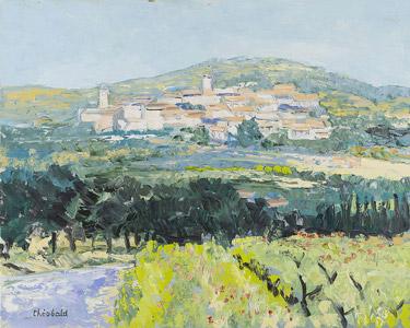 Village près de la colline en Provence