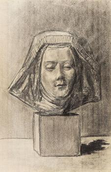 Sculpture d'une tête